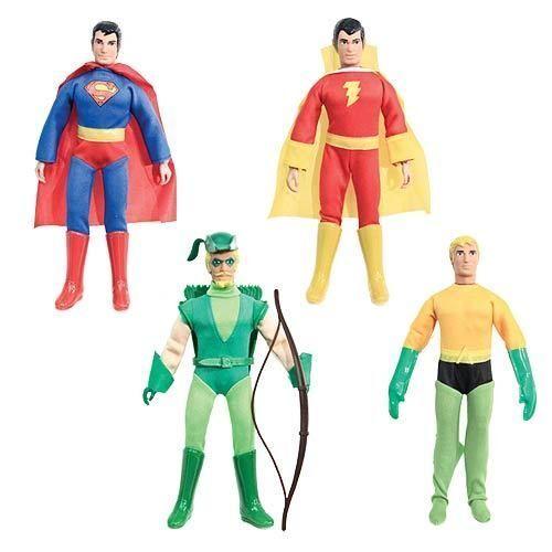 DC super poteri SUPERMAN SHAZAM AQUAMAN FRECCIA VERDE 8 pollici Action Figure CASE