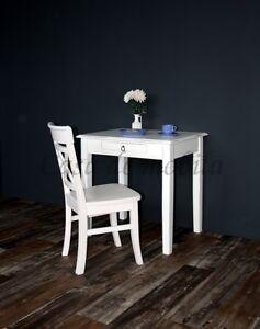Massivholz-Tisch-klein-Shabby-Chic-weiss-antik-NEU-Kuechentisch-Schreibtisch-Holz