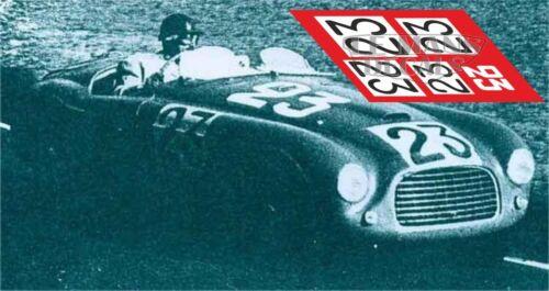 Calcas Ferrari 166 MM Spider Le Mans 1949 22 23 1:32 1:24 1:43 1:18 slot decals