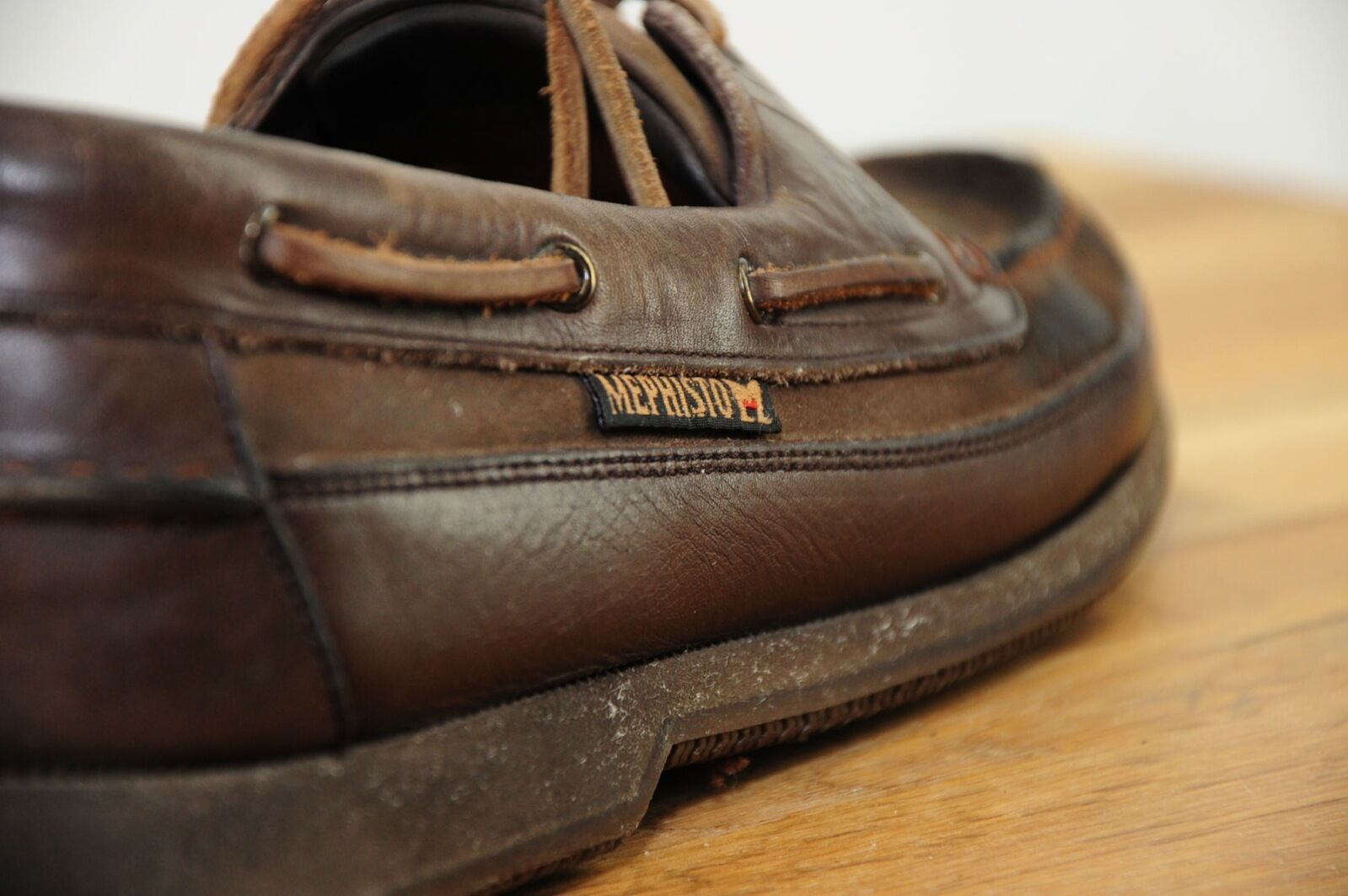 Mephisto Hurrikan Spinaker Brown Suede & Pelle Uomo's Boat Shoes 9M Portugal