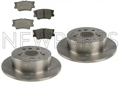 Front Rear Brake Discs Rotors /& Ceramic Pads For 2008 2009-2012 Toyota Avalon
