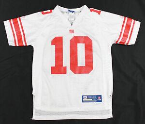 low priced e9670 c698d Details about Eli Manning Jersey New York Giants Boys Medium 10 12 White  NFL Reebok M