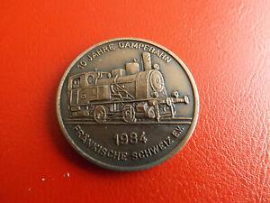 *10 Jahre Dampfbahn/fränkische Schweiz Ev.*bronzemedaille 1984 Ca.36mm(schub55)