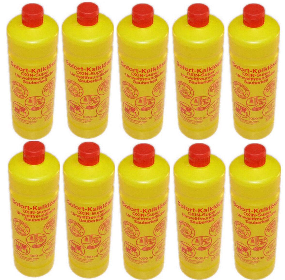10x Oxin Sofort Kalklöser Kalkreiniger Reinigungsmittel Konzentrat Entkalker