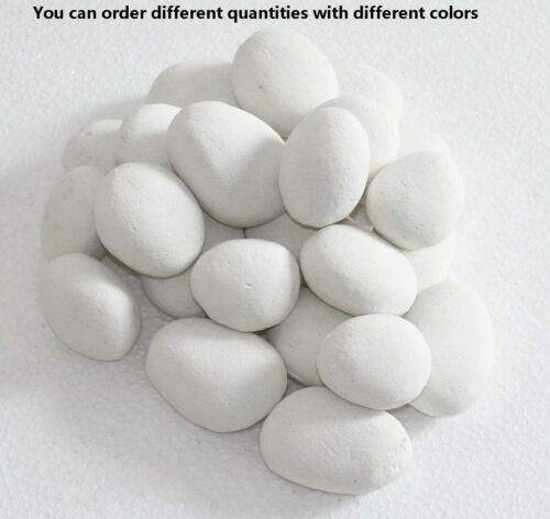 Ceramic Stone-like Pebbles For Gas Ethanol Fireplace,Stove,Fire Pits,many colors