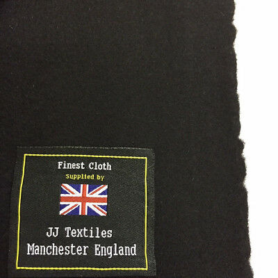 Black 90 Wool 10 Cashmere Overcoat Fabric Made In Huddersfield
