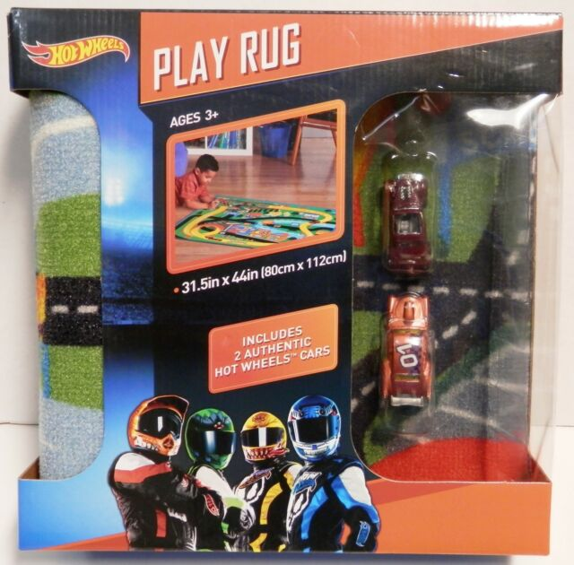 New Hot Wheels Play Rug With 2 Htf Exclusive Cars Pass N Gasser