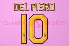 Del Piero #10 2010-2012 Juventus Homekit Nameset Printing