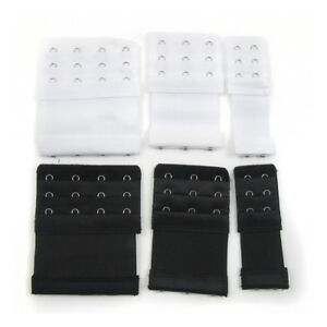 2-3-4-HOOK-BRA-EXTENDERS-BLACK-OR-WHITE-ELASTIC-EXTENSION-NO-SEWING-MATERNITY