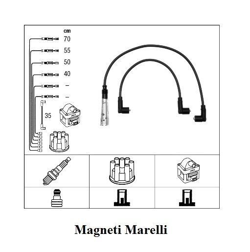 Zündkabelsatz Magneti Marelli VW Polo 50 1,0 Motorcode ALL 45 1,0 Motorcode AEV