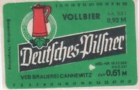 1  Bieretikett Cannewitz   DDR