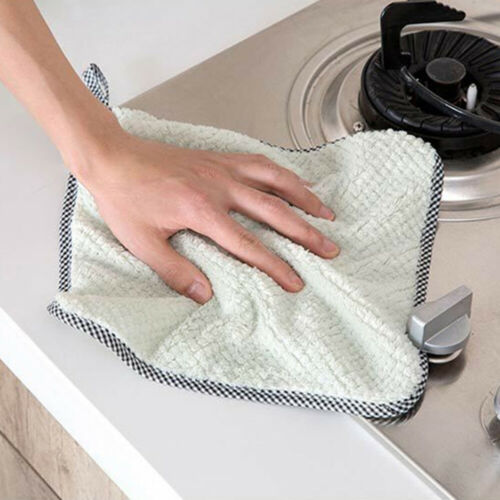 Gadgets Coral Velvet Home Dish Towel Wiping Rag Cleaning Cloth Wash Cloth