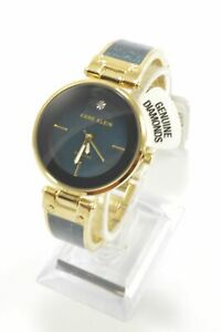 Anne-Klein-AK2512NVGB-MOP-Dial-Gold-and-Navy-Blue-Marbleized-Bangle-Watch