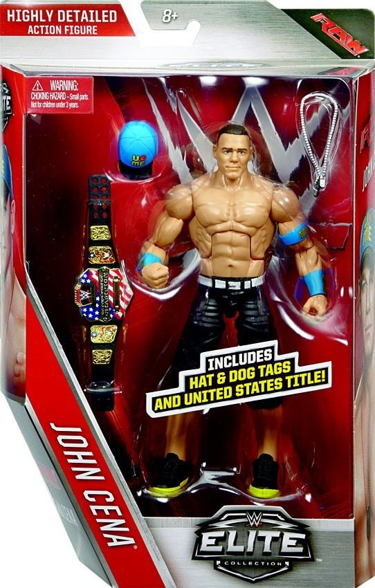 Elite Series 40 John Cena Action Figure [Hat & Dog Tags & United States Title]