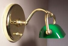 Vtg Picture Frame Mini Banker Cased Glass Shade Sconce Light Rewired USA #G9