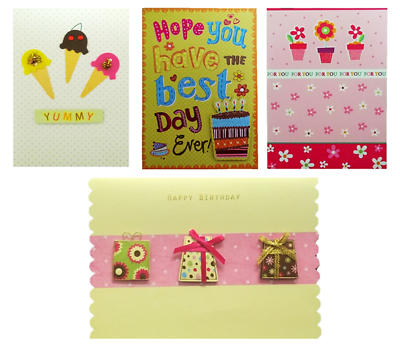 Female Birthday Cards Envelopes Quality Lady Girl Mixed Bundle Sealed Packets