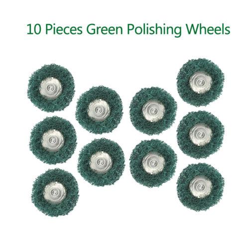 10x Green Abrasive Wheel Buffing Polishing Wheel Set Shank I Dremel Rotary Tool