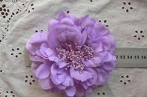 LAVENDER-Flower-BROOCH-PIN-with-HAIR-CLIP-Ready-to-wear-Fabric10-11cm