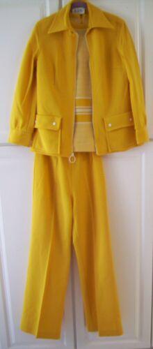 Vintage 3 piece pants suit by Butte Knit - Mustard