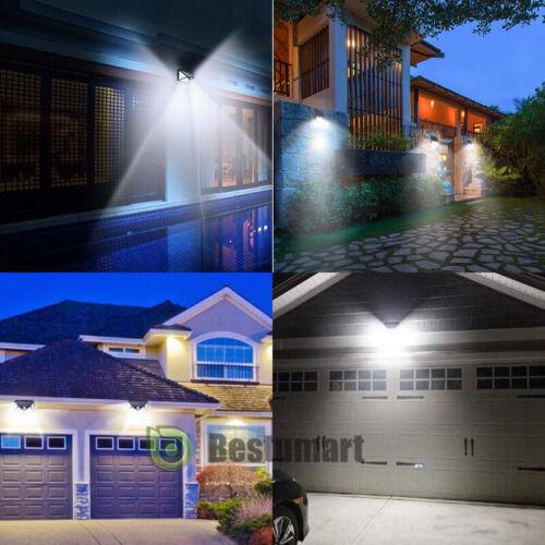 100 LED 1200 Lumens Outdoor Sensor Light 2//4 Pack Solar Lights Motion Sensor