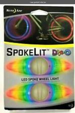 Nite Ize SpokeLit LED Spoke Light Disco Safety Riding Bike Indicator 4-Pack