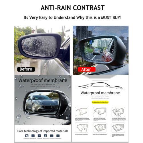 2 Pcs Waterproof Rainproof Anti Fog Film Rearview Mirror Sticker For All JAGUAR