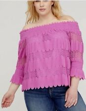 51a894c1261e2 item 2 LANE BRYANT Pink Smocked Off the Shoulder Top 14 16 14W 16W 0X 1X -LANE  BRYANT Pink Smocked Off the Shoulder Top 14 16 14W 16W 0X 1X