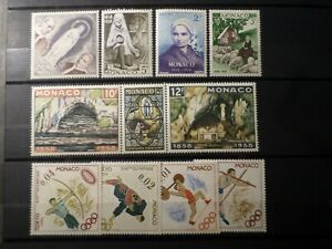 MONACO-LOT-timbres-neufs-VF-MNH-STAMPS
