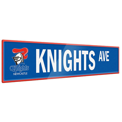 Newcastle Knights NRL Tin Street Sign **NRL OFFICIAL MERCHANDISE**