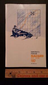 1987 SAFARI - Ski-doo - Bilingual Operators Manual - Excellent Condition - (CDN)