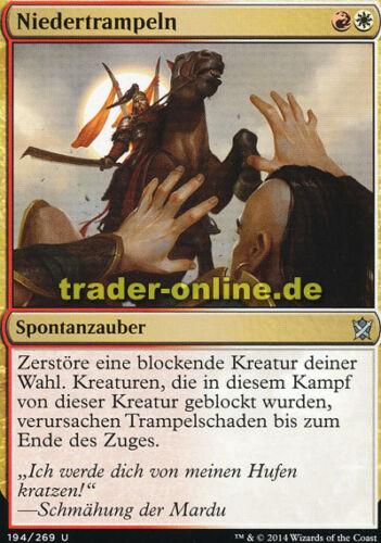 Khan of tarkir Magic ride down 2x piétinent