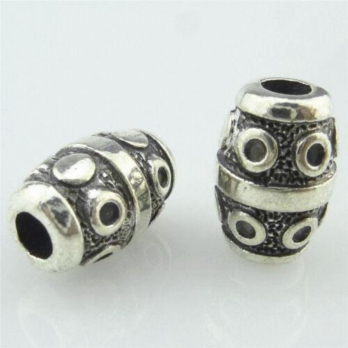 14942 10pcs vintage alliage d/'argent tonneau de vin 14 mm Tube Spacer Beads Charms