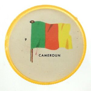 Vintage-Cameroun-Number-9-General-Mills-Premium-Coin-Flags-Of-The-World-M976