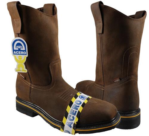 Men/'s Rodeo Work Boots Establo Color Tan Steel Toe