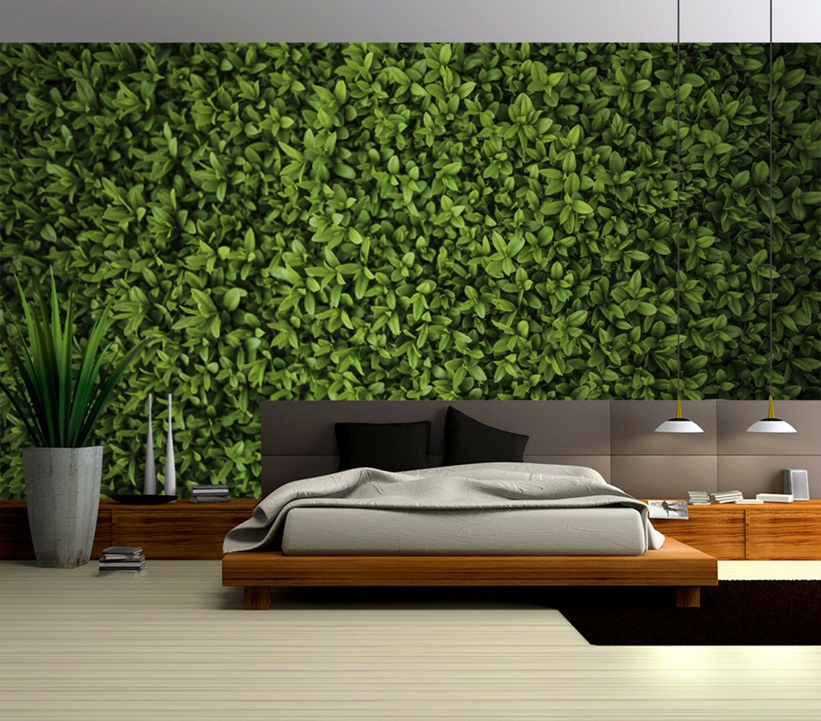 3D Leaf Grün wall 467 Wall Paper Wall Print Decal Wall Deco Indoor Wall Murals