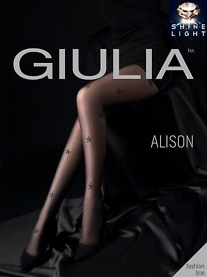Giulia Alison Argento Luccicante Star Collant Fantasia 20 Denari Trasparente