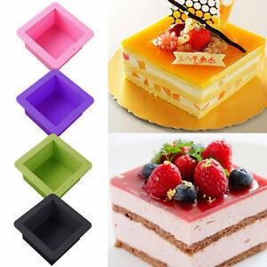 Silikon-Quadratische-Form-Kuchen-Brot-Zinn-Keine-Stick-Backformen-Backform-Backe