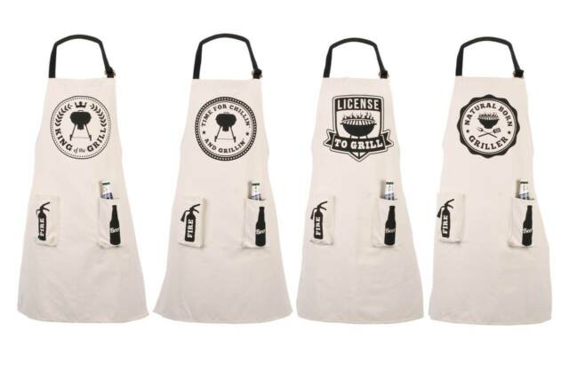 Barbeque BBQ Aprons for the Man/Men in Your Life - Choice of 4 - Christmas Gift