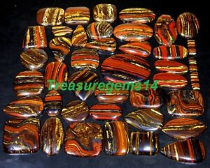 250-CT-WHOLESALE-LOT-NATURAL-RED-MULTI-FIRE-IRON-TIGER-EYE-CABOCHON-GEMSTONE-AAA