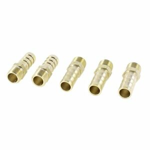 "5PCS Brass 8mm Air Gas Pipe Hose Barb 1/8""PT Male Thread Joints Fittings"