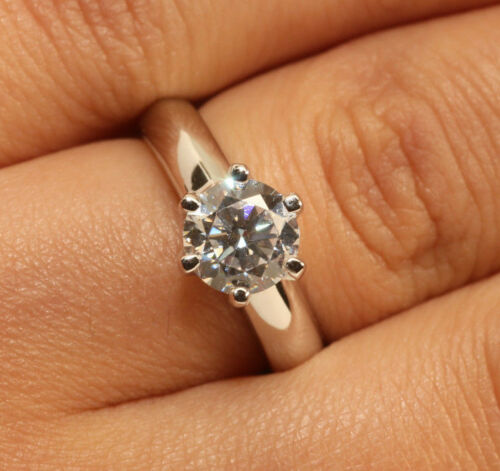 1Ct Round 18K White Gold Finish Women/'s Engagement Wedding Ring Unique Size 6.5