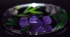 Handmade Real Flower Botanical Garden Resin Bangle Bracelet.{ZY-80}