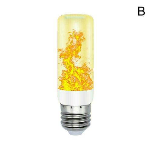 LED Flicker Flame Light Bulb Simulated Burning Fire Effect Xmas E27 Lamp H T