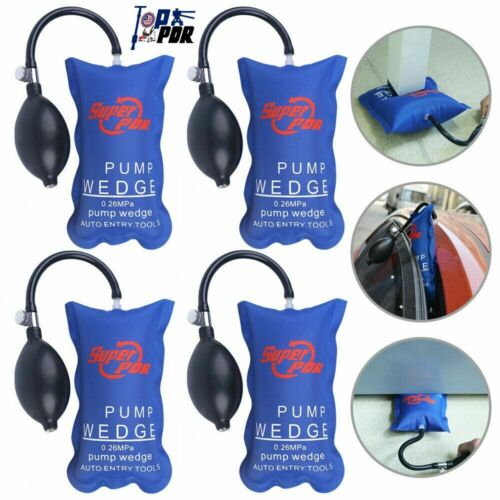 4xAir Pump Wedge PDR Inflatable Air Shim Auto Tools Car Entry Kit Window Open US