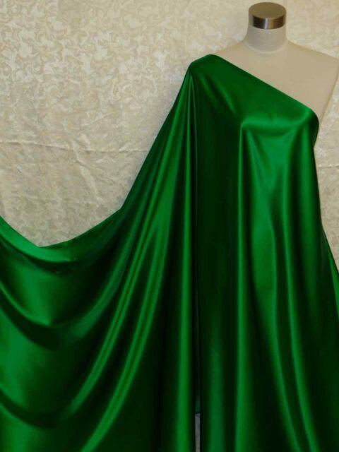 Olive Green Paisley Silk Charmeuse Fabric