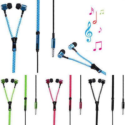 Hot Sale 3.5 mm In-ear Zip Stereo Hands-free Headphone Earphone Earbud+Mic