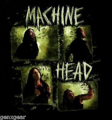 MACHINE HEAD cd lgo RECTANGLE PHOTO Official SHIRT LAST XL New oop
