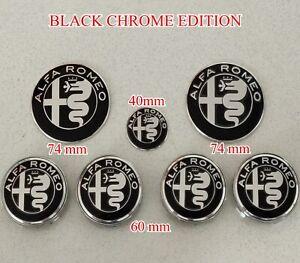 Kit Frieze badge alfa romeo giulietta Myth 147 156 159 Black Logo