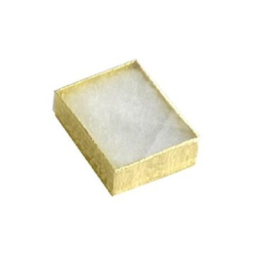 Wholesale 100 Gold Clear View Top Cotton Filled Jewelry Gift Boxes 2