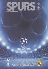 Spurs V AC MILAN CHAMPIONS LEAGUE PROGRAMME TOTTENHAM